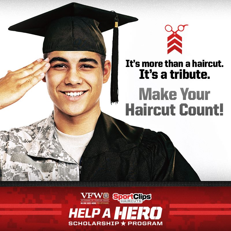 Sport Clips Marketplace West ​ Help a Hero Campaign